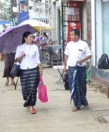 ヤンゴンのファッション事情